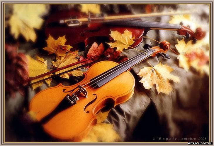 """Схема вышивки  """"Скрипки. осень """": таблица цветов."""